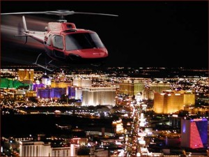helicopter on the city